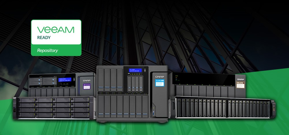 Ensuring the stability of virtualized environments with QNAP NAS now featuring VEEAM Ready Storage Repository